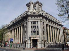 Basque Country, Bizkaia, Bilbao, Gran Vía, Bank of Bilbao Building