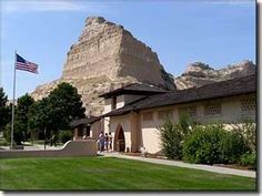Scotts Bluff National momument near Scottsbluff, Nebraska. Very steeped in the Oregon Trail history. When you drive up to the top and know where to look, you can still see the ruts the wagons made their way to Oregon. The Museum at the base is an excellent history lesson.