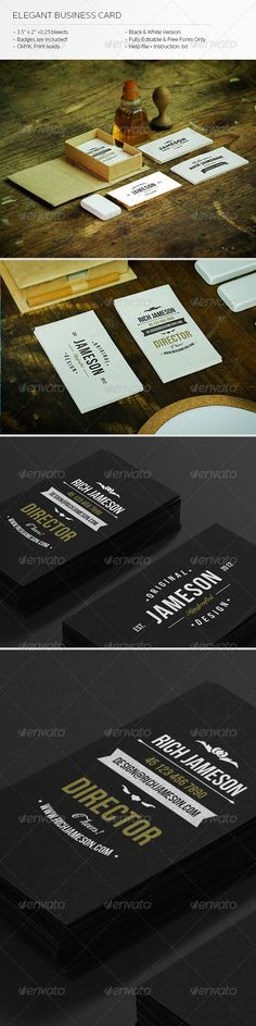 93 best print templates images on pinterest print templates font elegant business card graphicriver hello thank you for your purchase this amazing business solutioingenieria Gallery