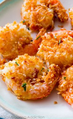 Easy Coconut Shrimp from Sally's Baking Addiction Coconut Shrimp Recipes, Fish Recipes, Seafood Recipes, Cooking Recipes, Healthy Recipes, Coconut Prawns, Baked Coconut Shrimp, Recipies, Coconut Shrimp Dipping Sauce