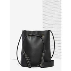 Paradigm Vegan Leather Bucket Bag (£37) ❤ liked on Polyvore featuring bags fa2a207e38fd4