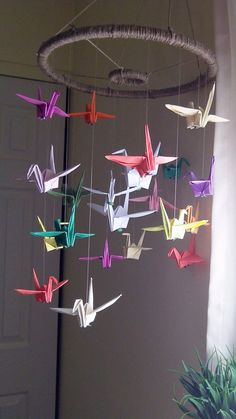 Custom Origami Paper Crane Mobiles Decor