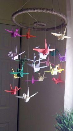 Custom Origami Paper Crane Mobiles/Decor