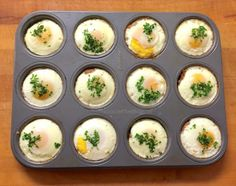 Perfect to make in bulk to meal prep for the week! This Paleo Sausage & Egg Breakfast Muffins recipe couldn't be easier! 2-ingredients, 20 minutes