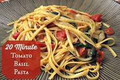 Incredibly delicious one pot pasta #vegetarian #quickmeal 20 minute one pot tomato basil pasta
