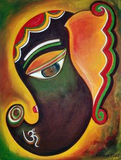 ganesha paintings for sale Ganesha Drawing, Lord Ganesha Paintings, Ganesha Art, Ganesh Tattoo, Shri Ganesh, Krishna, Folk Art Flowers, Flower Art, Art Painting Gallery