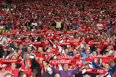 Champions again: @manutd fans leave the rest of the Premier League in no doubt as to who rules the roost.