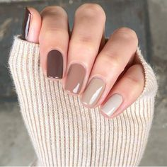 Neutral Nails, Nude Nails, Neutral Colors, Coffin Nails, Classy Nails, Stylish Nails, Trendy Nail Art, November Nails, Nagellack Design