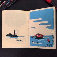 #sketchbook #mareebasse #arradon by tomhaugomat
