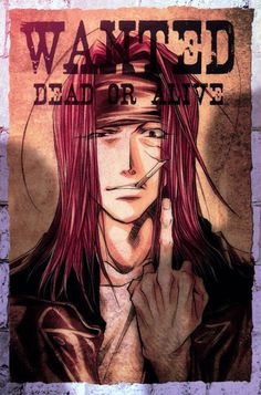 from Saiyuki Postcards Red... Wanted Sha Gojyo