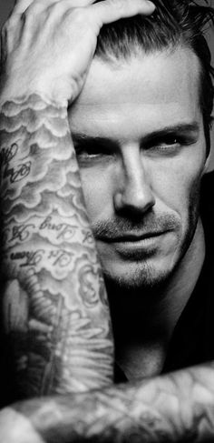 #David_Beckham | #black_and_white_photography