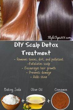 DIY Scalp Detox Treatment To Encourage Shine & Hair Growth - hair - Hair Treatment Hair Growth Mask Diy, Diy Hair Mask, Diy Scalp Detox, Diy Hair Treatment, Scalp Treatments, Beauty Hacks For Teens, Hair Scalp, Scalp Mask, Ear Hair