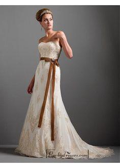 Beautiful Elegant Exquisite Wedding Dress In Great Handwork