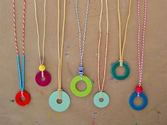 DIY Washer Necklaces (using nail polish)
