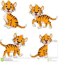 Cute tiger cartoon collection