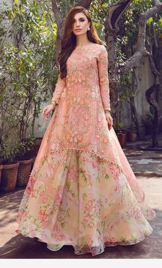 Pink peach dress in India