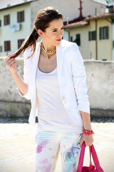 Jeans pastello ed un total white: Irene's Closet per Salsa Jeans