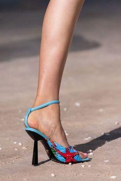 Gladiator Sandals Heels, Blue Sandals, Vogue Paris, Donatella Versace, Gianni Versace, Mannequins, Womens High Heels, New Shoes, Me Too Shoes