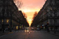Sunset in Paris.