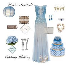"""Celebrity Wedding"" by claudia2012 ❤ liked on Polyvore featuring Adrianna Papell, OKA, Kate Spade, Bling Jewelry, Caparros, BERRICLE, Herend and Waterford"