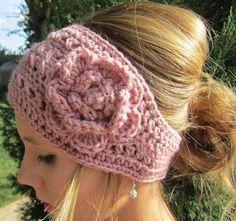 Rose Crochet Head Wrap