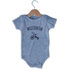 Wisconsin City Tricycle Infant Onesie