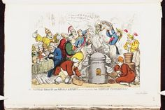 14 December 1813.Bodleian Libraries, Political chemist and German retorts or- dissolving the Rhenish confederacy.Satire on Napoleon's exile to Elba. (British political cartoon)