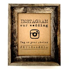 Instagram Wedding sign Rustic wedding sign by AnnsPaperie, $10.00