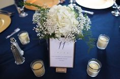 Table Numbers :  wedding blue diy flowers gold inspiration ivory navy reception stationary table numbers white ScottCassie 97
