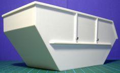 Schutt-Container-Absetzcontainer-Absetzmulde-1-24-1-24-Polystyrol-Scratch-gebaut