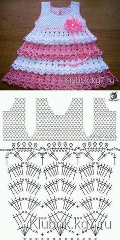 Captivating Crochet a Bodycon Dress Top Ideas. Dazzling Crochet a Bodycon Dress Top Ideas. Crochet Baby Dress Pattern, Baby Girl Crochet, Crochet Baby Clothes, Baby Knitting Patterns, Baby Patterns, Knit Crochet, Crochet Patterns, Crochet Hats, Toddler Dress Patterns