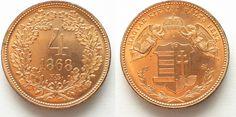 1868 Haus Habsburg UNGARN 4 Kreuzer 1868 KB (offiz. NP) FRANZ JOSEPH I. Kupfer RAR!!! # 95015 PP Joseph, Coins, Personalized Items, Objects, House, Hungary, Copper, Antiquities