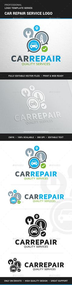 Car Repair Service Logo Template — Transparent PNG #garage #service • Available here → https://graphicriver.net/item/car-repair-service-logo-template/12756829?ref=pxcr