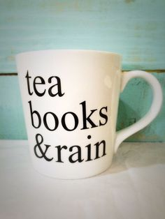 Tea, books, & rain