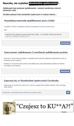 blokada na facebooku