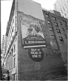 dianetics | Old Signs » L. Ron Hubbard Scientology Dianetics Mural Circa 1955