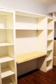 desk and bookshelf ideas - Google Search