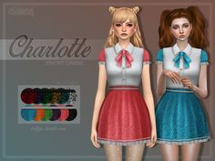 An early Christmas gift for You, guys! This dress comes in 6 darker and 6 brighter swatches, and was inspired by dark and sweet lolita dresses and school uniforms. Found in TSR Category 'Sims 4...