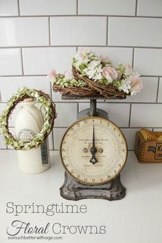 Decorate with springtime floral crowns/wreaths | somuchbetterwithage.com