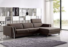 Divani Casa Ardmore - Modern Fabric Sectional Sofa Set