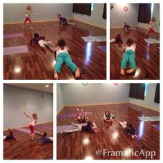 Playing snake tag in yoga