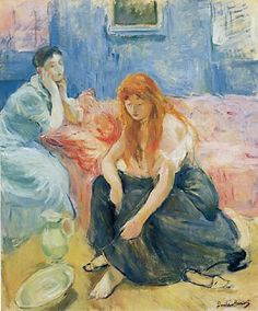 Berthe Morisot Two Girls 1894 oil on canvas. Phillips Collection, DC