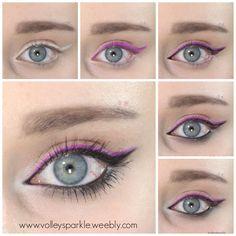 Purple & Black Double Wing Eye Makeup Look | How To