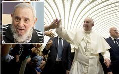 9/15/2015 Pope Francis hopes to meet ailing former Cuban leader Fidel Castro,if he's up to encounter.Pope will 1st hold a more formal meeting with Raul Castro.Pope Francis was credited with playing a key role in the historic rapprochement between Cuba & the U.S.,sending letters to Raul & Obama urging a detente' & hosting secret talks at the Vatican.