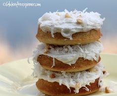 Baked Donuts! Vanilla Bean, coconut, and Macadamia Nut