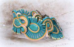 Turquoise Blue Soutache Bracelet Handmade by SDSoutacheDreams