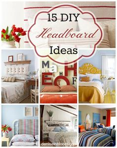 15 DIY Headboard Ideas... great!