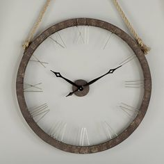 """You'll love the Oversized Hung On Rope 36"""" Wall Clock at Wayfair - Great Deals on all Décor & Pillows products with Free Shipping on most stuff, even the big stuff."""