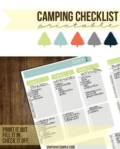 Make camping a WHOLE lot easier with this camping checklist from SomewhatSimple!