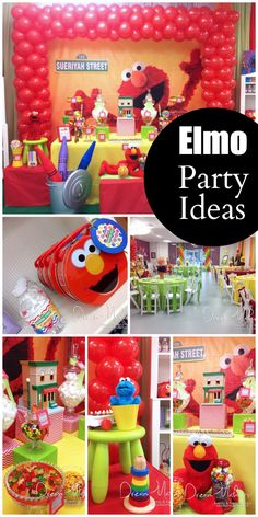 So many cute Elmo party ideas at this adorable boy 1st birthday party! See more party ideas at CatchMyParty.com.
